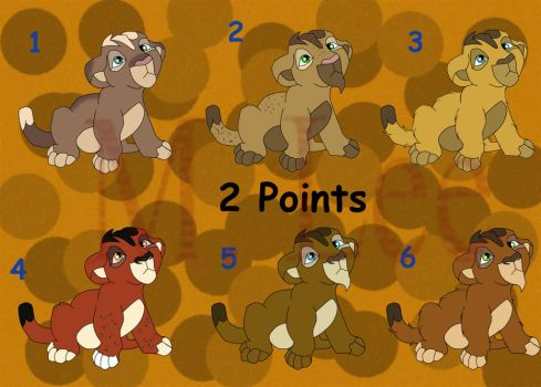 2 Point Cubs Set 10 ( 3,5,6 Open) by MLee-Adoptables