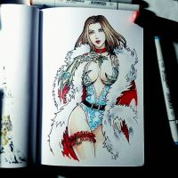 Instaart - Santa Witchblade by Candra