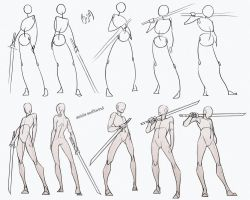 Self Practice - Swordsman Poses Pack by AzizlaSwiftwind