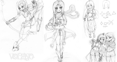 [Sketches] Rona Redesign by Voleno