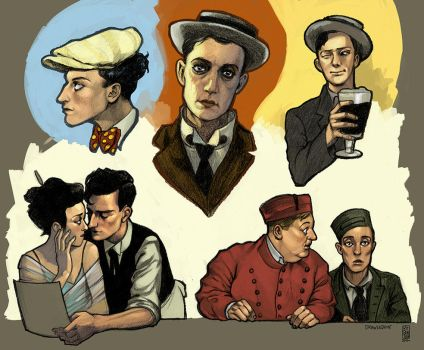 Buster Keaton Studies by drawlequin