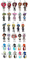 FLAT SALE Splatoon Gacha Adopt Clearout by LittleParade