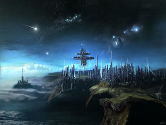 City In The Clouds by Gate-To-Nowhere