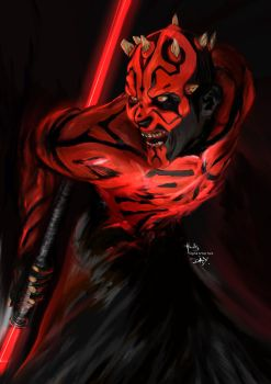 Darth Maul no2. Star Wars by digitalArtistYork