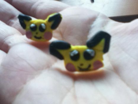 Pichu earrings by PharaohBec
