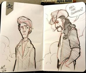 Lemmy and Bowie by basakward