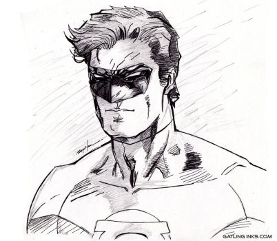 Green Lantern Hal Jordan by GatlingInks