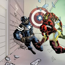 Captain America Vs Ironman by Hawkmac