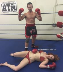 Woman Defeated - Boxing by boxingwrestling