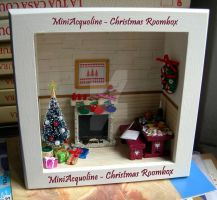Christmas roombox by miniacquoline