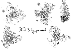 5 floral brush by presumed by TheSweetDreams18
