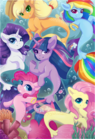 SeaPonies + Speedpaint by SerenityScratch