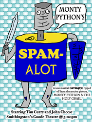Spam-a-lot poster by SnD-Frostey