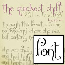 The Quickest Shift - FREE FONT by KeepWaiting