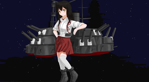 Kantai Collection(Alternate):Battlecruiser Akagi by Redundant-Cat