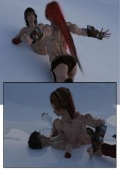 Sylva and Pumpmonger's Red fight in the snow 10 by SavageSylva