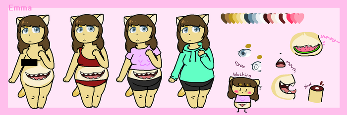 Emma ref (WIP) by SkyMeowCute