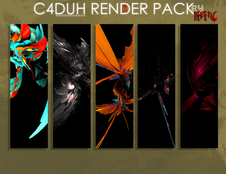 C4D Render Pack by oOHereticOo by oOHereticOo
