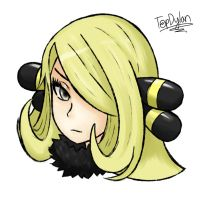 Pokemon - Cynthia Portrait by TopDylan