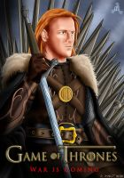 Heath Slater on the Iron Throne by Roselyne777