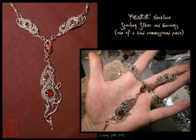 ooak - FENRIR necklace by somk
