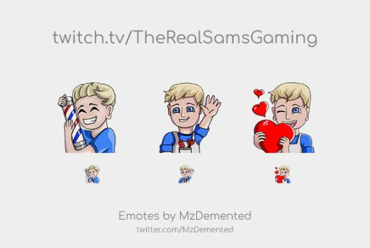 Twitch Emotes for TheRealSamsGaming by MzDemented