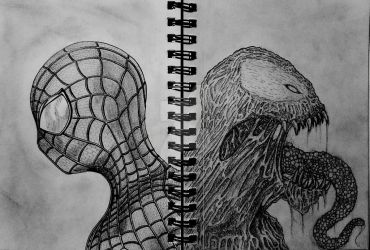Spiderman/Venom by 1nfinite-1ne