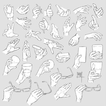 Sketchdump January 2018 [Hands] by DamaiMikaz