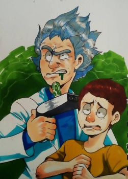 Rick amd Morty by machinegun202