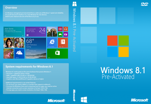 Windows 8.1 PreActivated Cover (Unofficial) by joostiphone