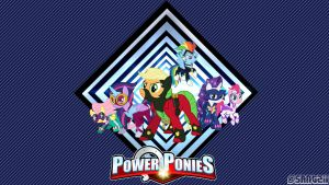 Power-Ponies wallpaper (w. text) by Santzii