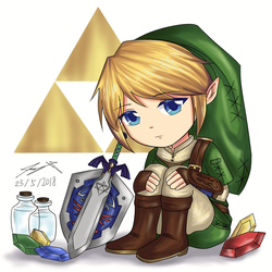 Chibi Link - Twilight Princess (2018) by ppeach444
