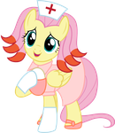 Fluttershy as Chansey by CloudyGlow