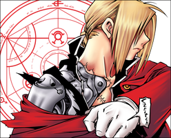 Edward Elric  - Colab by Line-arts
