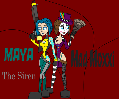 Moxxi And Maya the siren by YeagleJeff
