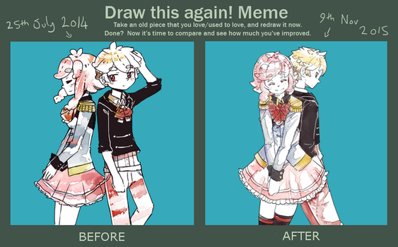 Draw this again meme: Therefore You And Me by Ekkoberry
