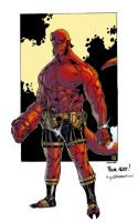 Guile's Hellboy Colored by ginmau
