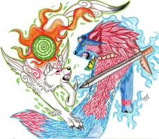 oki vs amaterasu by Suenta-DeathGod