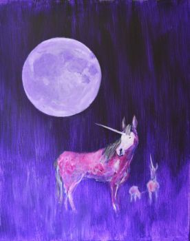 Sea Of Tranquility: Unicorn Moon by Kennyfiddler