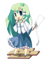 Chibi Sanae by hanahello