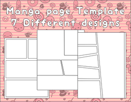 Manga page Template by Faeth-design