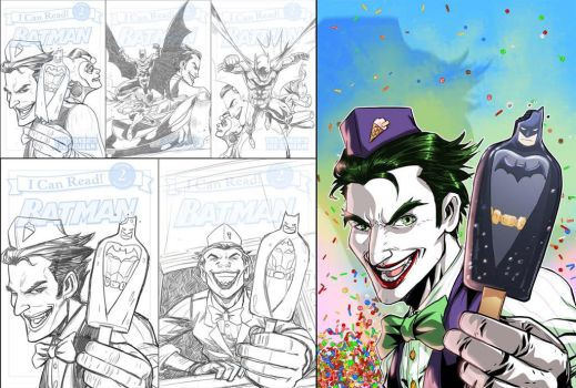 BATMAN V JOKER by deemonproductions