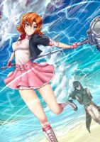 Summer Time Nora Valkyrie - battle by ADSouto