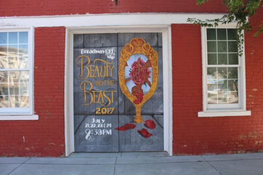Beauty and the Beast Mural by klenae