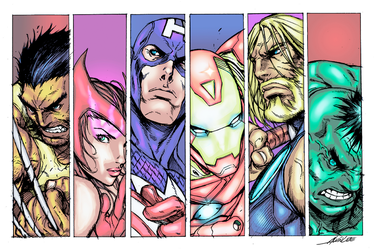 The Avengers by DavidCunningham