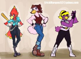 Street Bird Lineup by TheInsaneDingo