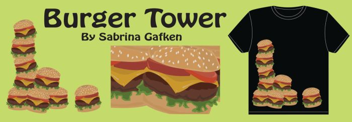 Burger Tower by Sketch0phobia