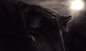 Dragon #9 : Drogon from Game of Thrones by SeigneurNazgul