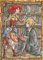 ATC Exchange- In the Library by temiel