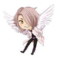 Chidori commission- chibi Yuwaku by Sparkly-Monster